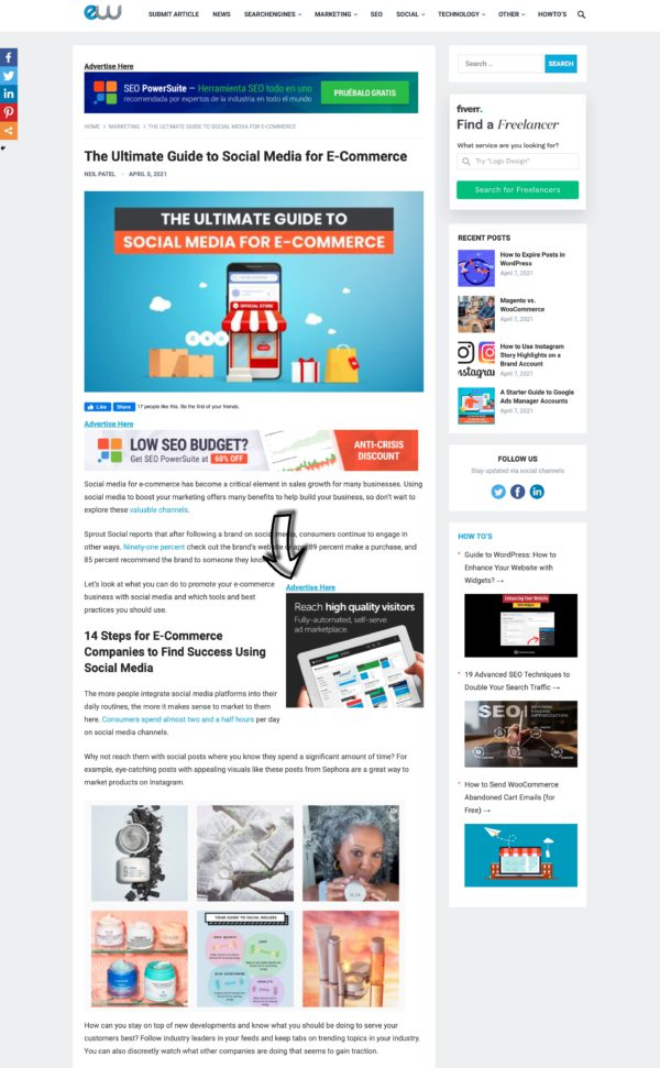 Entireweb Articles - Banner Inside all articles (300x250)